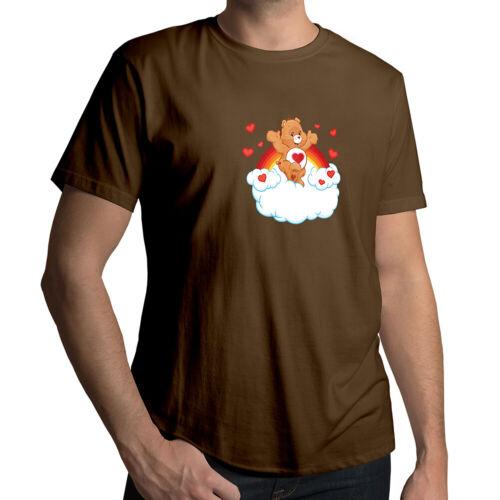 Care Bears Tenderheart Bear Heart Classic Cartoon Unisex Mens Tee Crew T-Shirt
