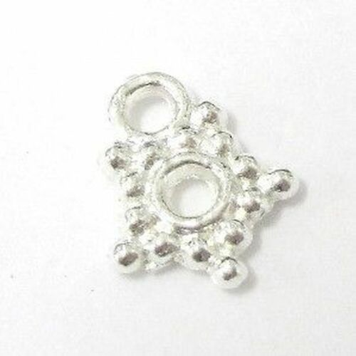 100 x pieces small star Silver Tone Alloy Charm Pendant A0289