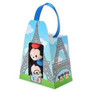 Disney-Store-Tsum-Tsum-3-5-034-Mickey-amp-Minnie-Paris-Gift-Box-set-Mini-Plush