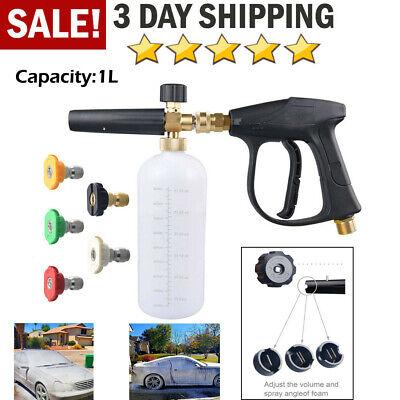 Car Foam Gun >> 3000 Psi Jet Car Foam Cannon Lance Pressure Washer Nozzle Tip Spray Gun Wash Kit 744502315827 Ebay