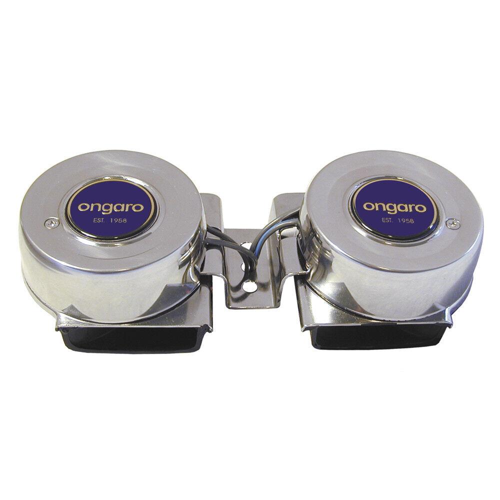 Ongaro Stiefel Marine Edelstahl Mini Compact Twin Horn 12V