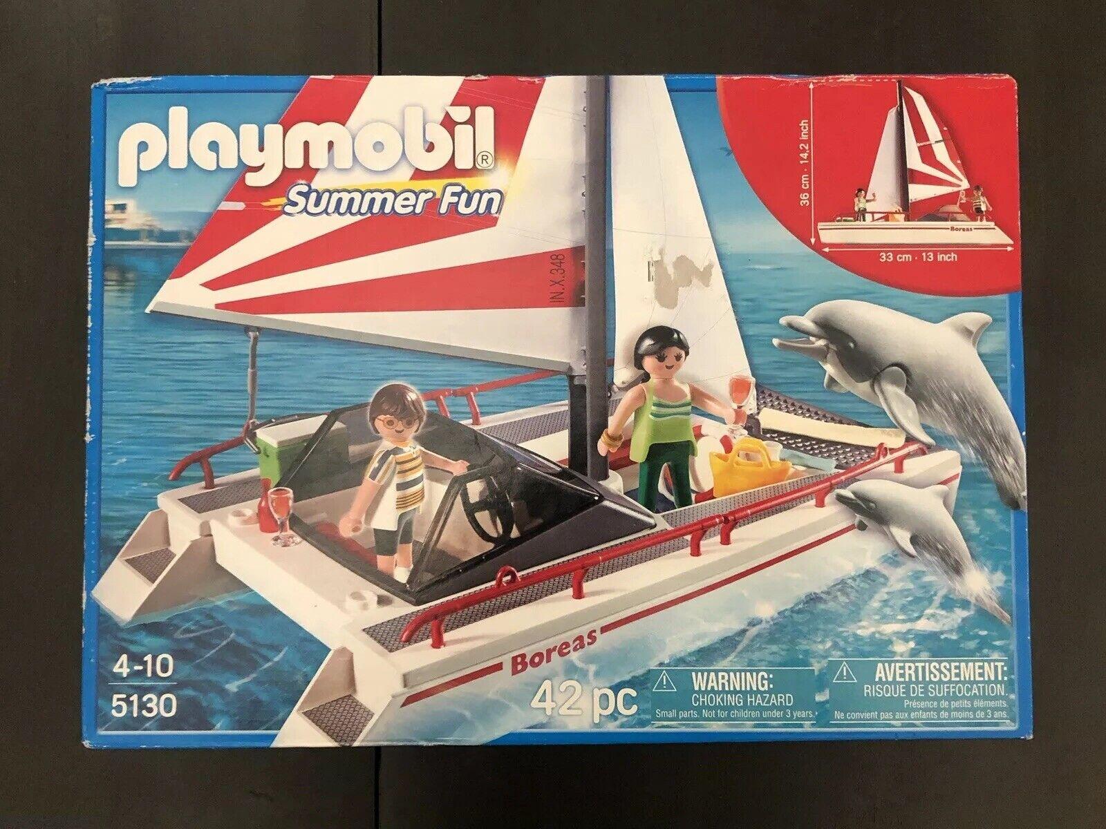 2010 nouveau In Box Playmobil été Fun Catamaran avec  dauphins 5130 Jouet Jeu Lego Figures  aucune hésitation! achetez maintenant!