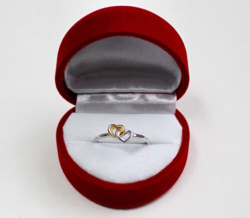Valentines Day Heart To Heart Ring 925 Sterling Silver Jewelry and Gift Box