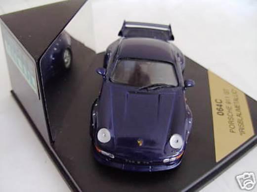 SvoitureCE VITESSE PORSCHE  911 993 GT2 rue IRIS bleu METALLIC 1 43 LTD EDT  Stade Cadeaux