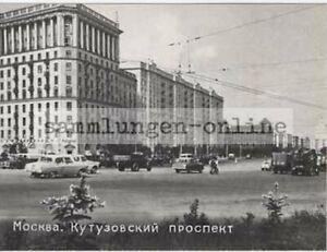 Moscow-Kutusowski-Brochure-1965-Ak-Postcard-50er-60er-Years-Car-Photo