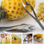 Pineapple-Peeler-Cutter-Slicer-Corer-Peels-Cores-Slices-Knife-Kitchen-Tools thumbnail 1