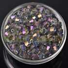 New 20pcs 8mm Bicone Faceted Crystal Glass Loose Spacer Beads Purple Colorized