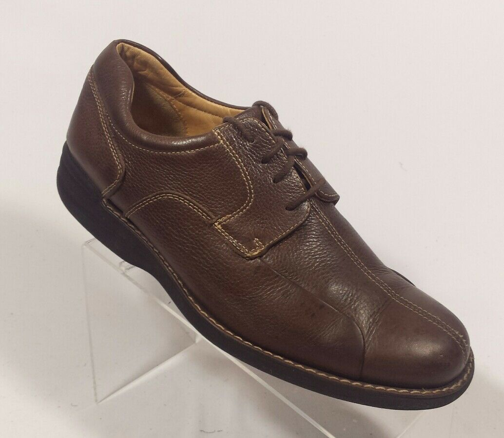 Johnston Murphy Brown Sheepskin Casual Split Toe Lace up shoes Mens 9M (Inv Y2)
