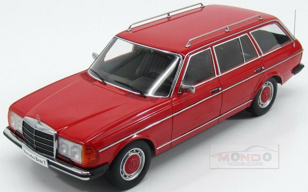 Mercedes Benz E-Class 250T S123 1980 rouge KK Scale 1 18 KKDC180092 180102