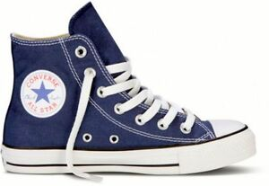 Converse Hi Top All Star Chuck Taylor Navy Blue Mens Womens Shoes ... 30e80b9e662b