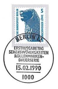 SincèRe Berlin 1990: Braunschweiger Lion Nr 863 Avec Propre Ersttags-cachet Spécial! 1a!-rstempel! 1a!fr-fr Afficher Le Titre D'origine Gagner Les éLoges Des Clients