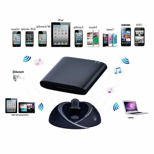 Bluetooth Music Audio Receiver Adapter for iPod iPhone 30Pin Bose Sound Dock USA