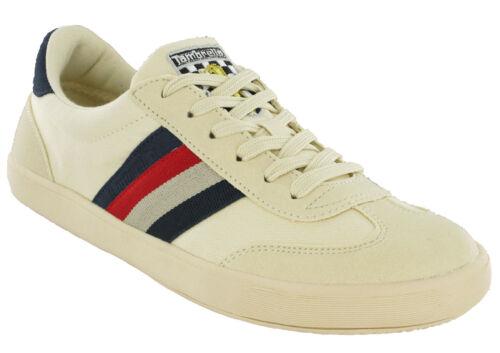 Lambretta Mod Baskets en Toile pour Homme à Lacets Rembourré Vulcan Chaussures UK 7-12