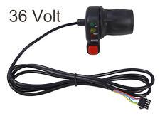 36V Electric Bicycle Half Twist Throttle w/ E-Bike Battery Capacity LEDs 1720mm