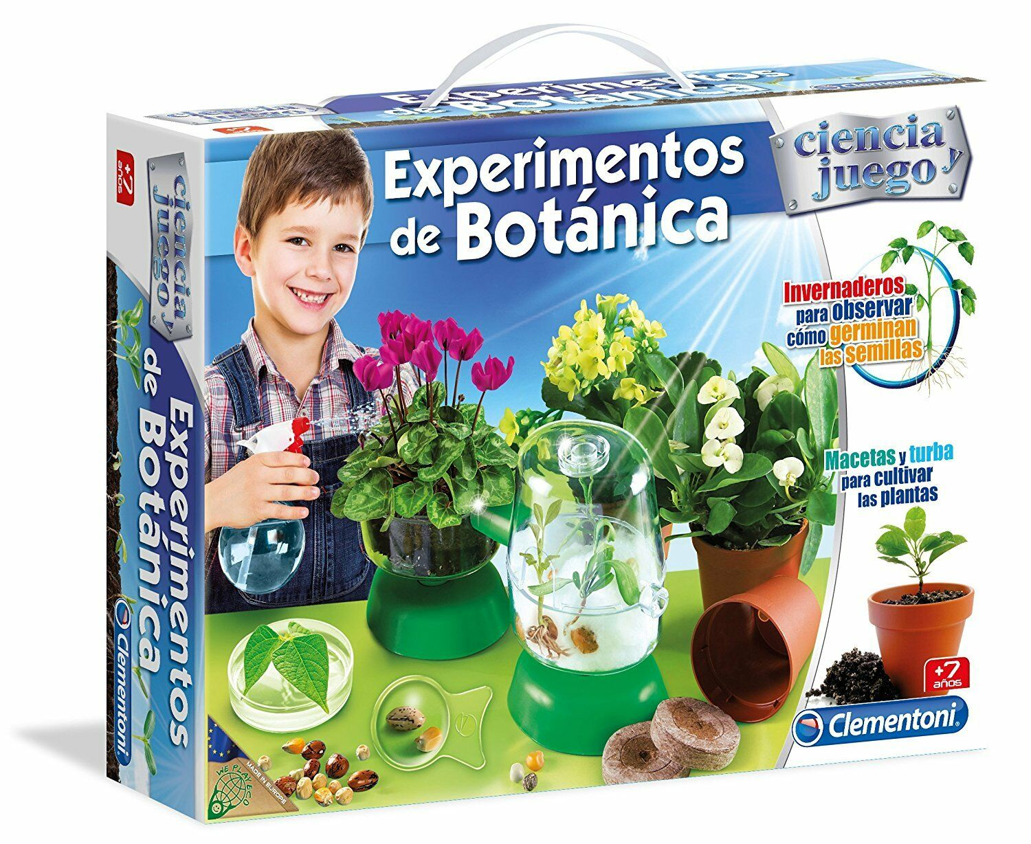 Experiments of Botany. Science and game. with lights sound. Clementoni. 55078