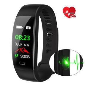 Fitness Armband mit Pulsmesser Wasserdicht IP68 Fitness Tracker Smartwatch DE