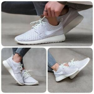 free shipping 7a146 29163 ... Nike-Roshe-One-Flyknit-voile-blanc-casse-ete-