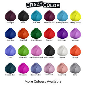 crazy color semi permanent hair dye cream by renbow 100ml bottle all colours ebay. Black Bedroom Furniture Sets. Home Design Ideas