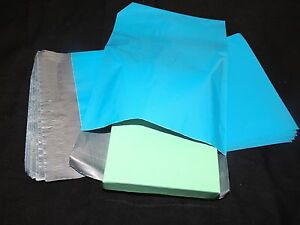 50 Blue 6x9 Flat Poly Mailer Envelopes Colored Self Sealing Plastic Shipping Bag
