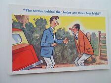 Vintage Comic Postcard NETTLE STING HUMOUR Artist Signed TROW 4732 Unused