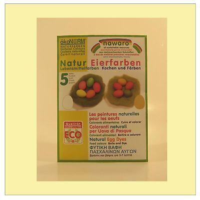 (16,45/100g) Ökonorm Nawaro Natur Eierfarben Lebensmittelfarbe 5 Farben 5 x 4 g