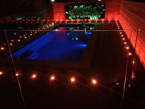 WiFi RGB 22mm 12V Yard Landschaft LED Pool Deck Treppenstufen Leuchten für Alexa