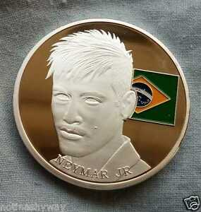 Neymar Silver Coin Brazil World Cup 2014 Man New York City Russia 2018 Paris PSG
