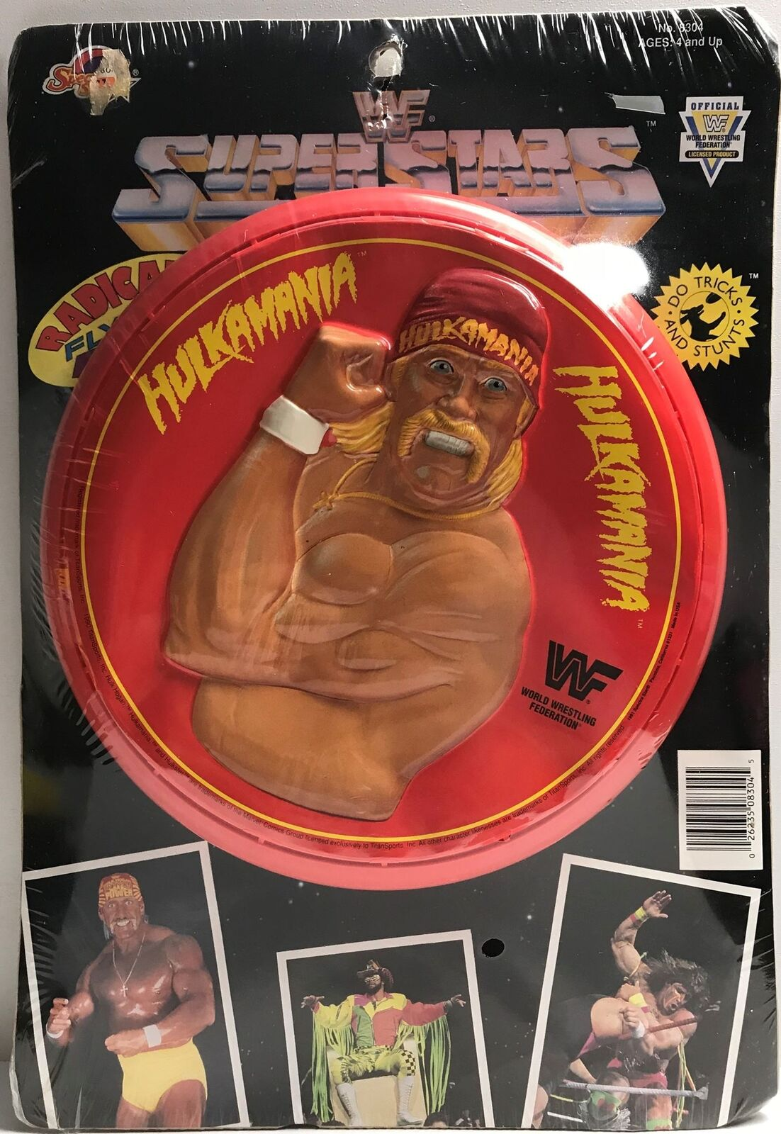 TAS038145 - 1990 Spectra Star WWF WWE Radical Flying Disc - Hulk Hogan