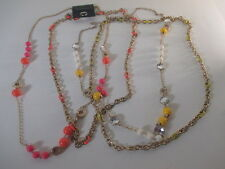 Banana Republic Mad Men Crystal bauble necklace Enamel Link Necklace Set 4 lot