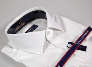 Caricamento dell immagine in corso Camicia-Moda-Uomo-Ingram-Slim-Fit-Bianca- Cotone- 2fb240273f5