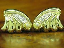 8kt 333 ORO orecchini a bottone con guarnizione in perle orecchini// 1,2g