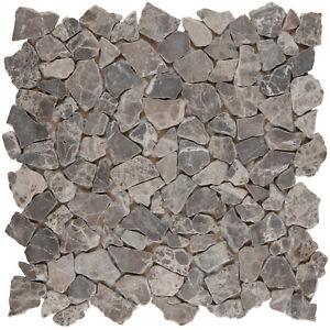 Naturstein-Bruch-Mosaik-Marmor-dunkelbraun-Boden-Fliesenspiegel-1Matte-ES-71630