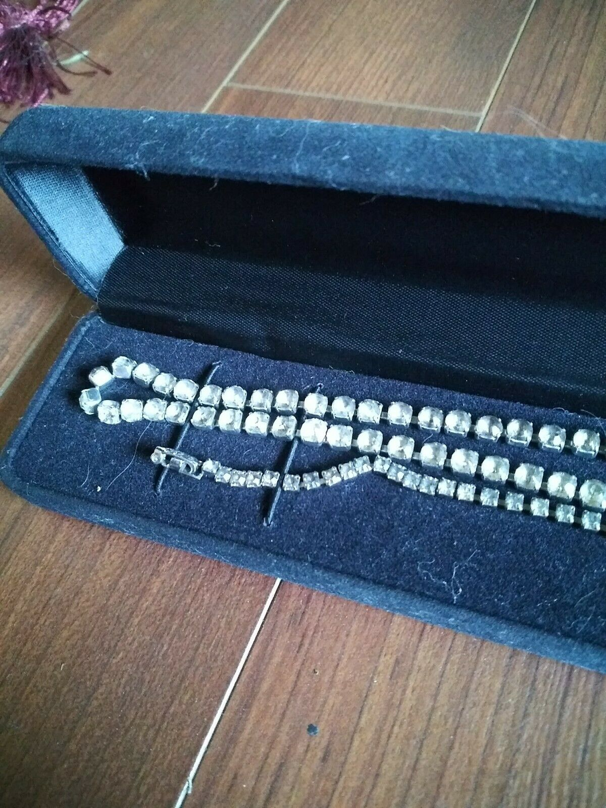 Costume Diamond Necklace And Bracelet Lot - image 2