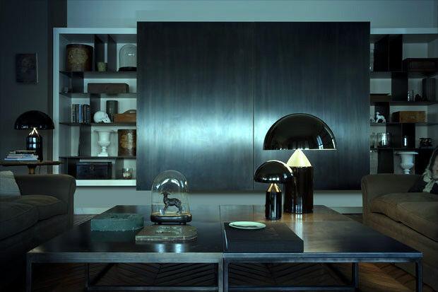 xxx OLuce - ATOLLO 238 - Lampada da tavolo/Table lamp - nero/black