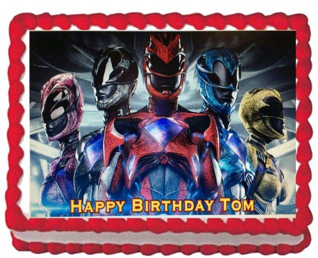 Astonishing 1 4 Sheet Power Rangers Megaforce Edible Image Cake Cupcake Topper Funny Birthday Cards Online Inifodamsfinfo