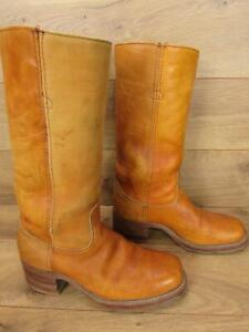 d6e1610cc358d Details about Vintage FRYE Tan Leather Black Label Mens Campus Boots 9 D