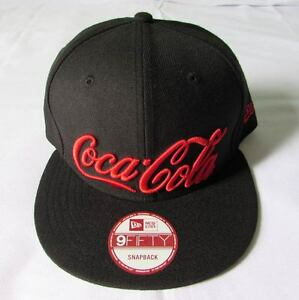 NEW ERA CAP HAT 9FIFTY COCA-COLA COKE SODA BLACK RED SNAPBACK RARE ... aba2d5ab15c