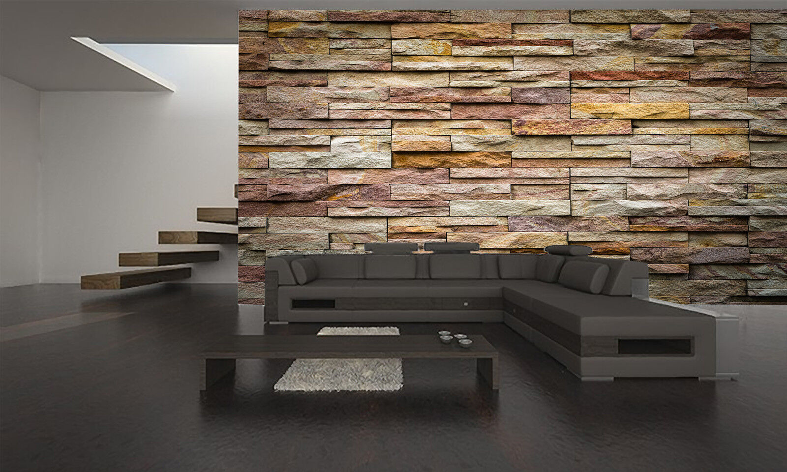 DECORATIVE  STONE Wall Mural Photo Wallpaper GIANT DECOR Paper Poster Free Paste