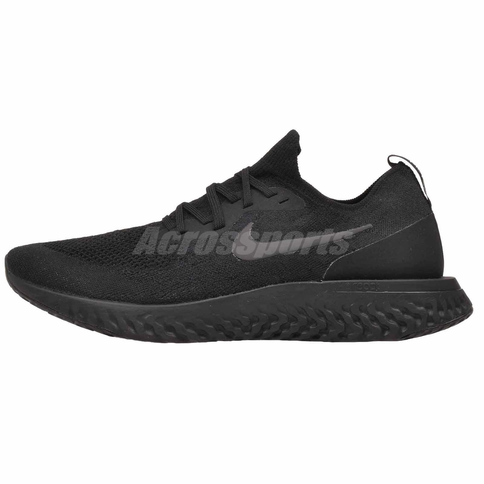 Nike Epic React Flyknit Running Mens scarpe Triple nero nero nero AQ0067-003 f11532