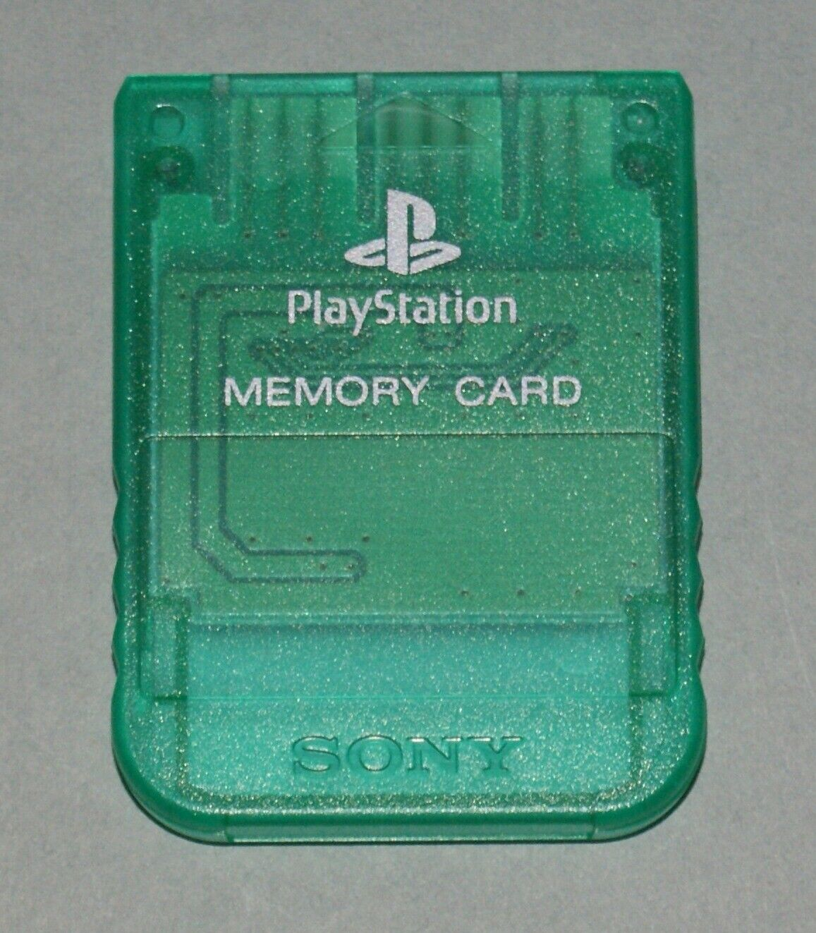Clear Green Official PS1 Memory Card - Sony PlayStation One Tested SCPH-1020 #1