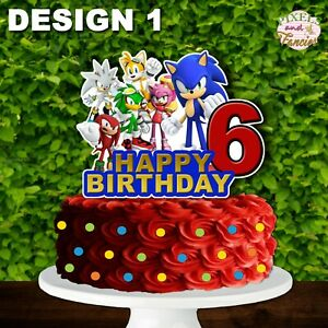 Sonic And Friends Cake Topper Cutout Sonic The Hedgehog Centerpiece Ebay