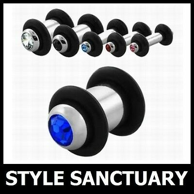 BULLET THEMED FLESH TUNNEL PLUGS STERTCHERS TAPERS WITH O RINGS
