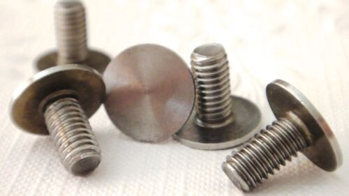 12mm 16mm 19mm length 6mm hole Flat head Bolt Screw x 5 for Cake Stand Fitting