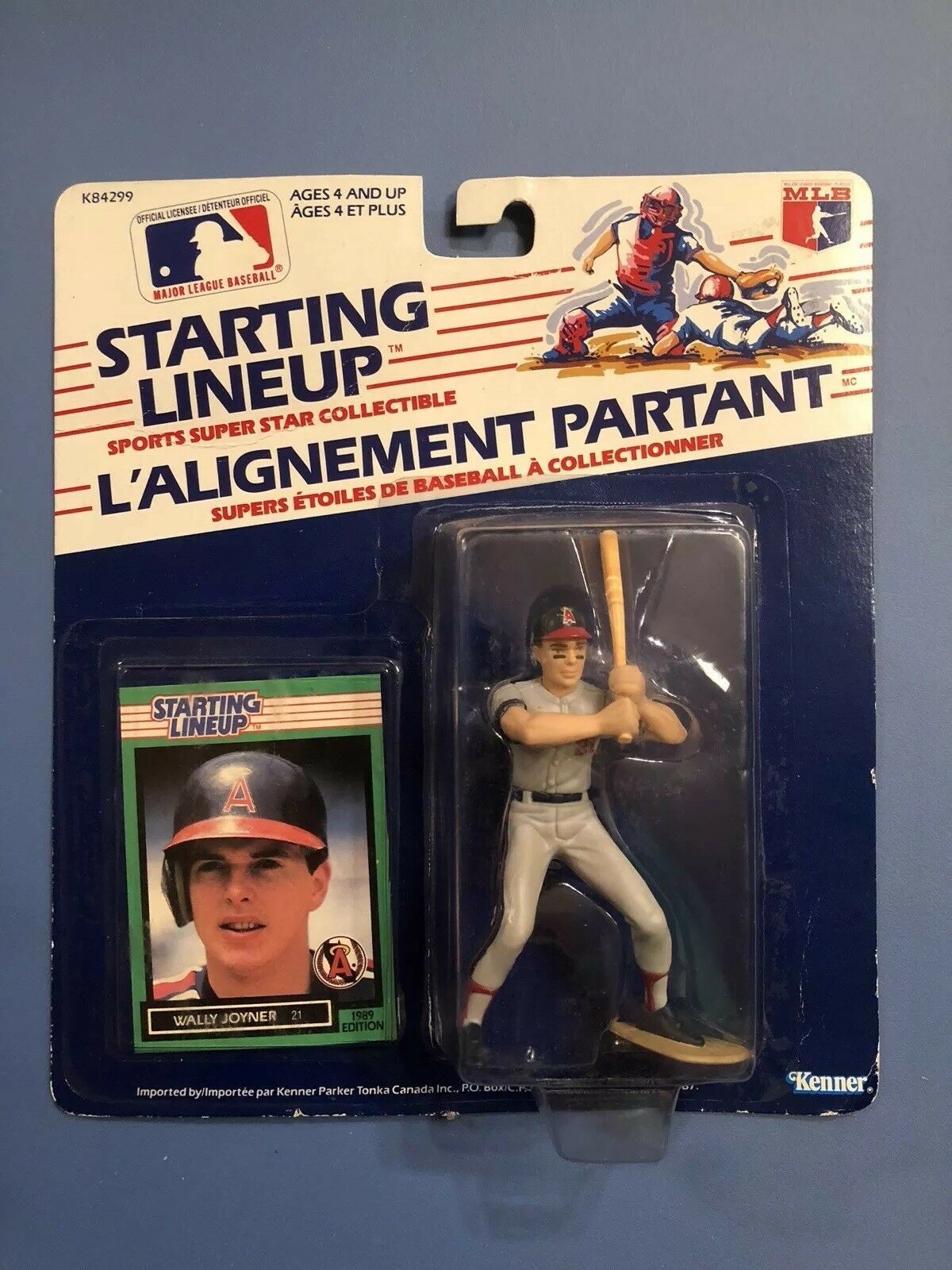 1989 Canadian WALLY JOYNER Starting Lineup CALIFORNIA ANGELS 89 SLU RARE
