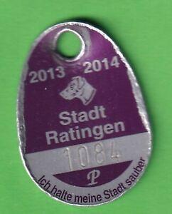 Ratingen Hundesteuermarke dog licence tag 2013 – 2014 Leichtmetall eloxiert