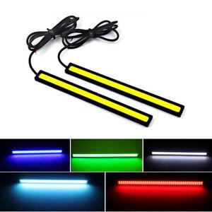 6-2x-12V-LED-STRIP-DRL-DAYTIME-RUNNING-LIGHTS-FOG-COB-CAR-LAMP-DAY-DRIVING-UK