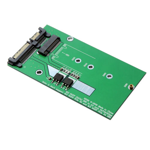 "2.5/"" SATA to M.2 SSD adapter card with 7 mm thickness aluminum case SATA"