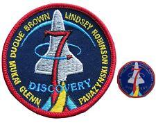 SHUTTLE DISCOVERY 7  STS-95  JOHN GLENN 5//8 INCH  LAPEL PIN