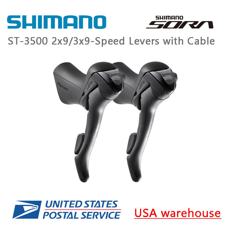 Shimano Sora ST-3500 2x9 3x9 speed Shift Brake Levers Set Right & Left w Cable
