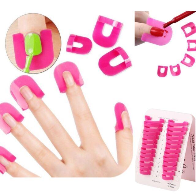 26pcs Curve Shape Spill Proof Finger Covers Nail Polish Varnish Protector Holder